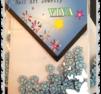 Vackra blom blåa fimos i storpack