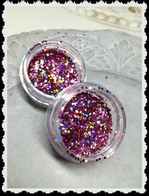 Stor bruk rosa dots glitter