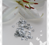 10 - pack små silver metall hjärtan