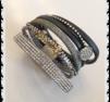 a230 Armband Lucky med svart inslag