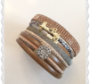 a230 Armband Lucky med brunt inslag