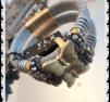a229 Fjärils armband vitt inslag