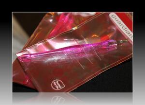 Rosa glittrig Nagelbandstrimmer