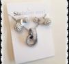 Smyckes set i stål med bling