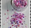 Stjärn mix lila/rosa stor burk