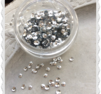 Silver half ball paljetter