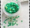Ljusgröna runda paljetter