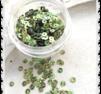 Runda multi gröna paljetter
