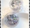 Silver flakes med glas effekt