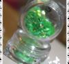 sr057 Flitter folje ruter neon green