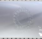 n135 Nagellacks karusell i genomskinligt plast för 20 lacker