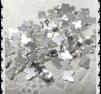 Vita/silver fjärils rhinestones 4 * 6 mm / 1 st