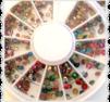 Hjul med metallic samt färgglada stenar