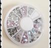 Mix av stenar i ett hjul